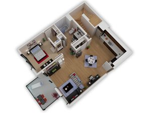Capitol Yard Apartments_ West Sacramento CA_Floor Plan_One Bedroom One Bathroom A5